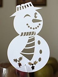 12pcs Snowman Wine Glass Card Escort Cup Card Table Name Number Place Card for Christmas Party Window Decorations