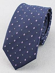 Corbatas ( Rojo/Azul Marino , Poliéster )- Modelo/Cuadrícula/Free Form