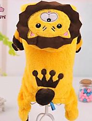 Katzen / Hunde Kostüme / Mäntel / Kapuzenshirts / Austattungen Gelb Hundekleidung Winter Tier / Tiaras & KronenHochzeit / Cosplay /