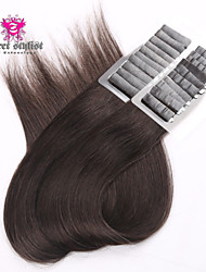 20inch 20pcs Silky Straight Skin Weft Tape In Brazilian Virgin Human Hair Extensions #2 Dark Brown