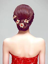 Mulheres Menina das Flores Liga Titânio Capacete-Ocasião Especial Ao ar Livre Clip para o Cabelo 6 Peças