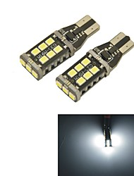 Carking™ T15-2835-15 SMD LEDs Car Reverse Back Up Light White Light(12V 2PCS)