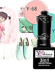 y-shine 2 pcs ongles gel uv ongles tremper hors gel ongles y50-68 polonais (poudre verte&rose)