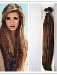 brasilianisches reines gerade vorgebunden Keratin Fusion Haarverlängerung Haarverlängerung nano 1g / s 100g / pc 1pc / lot auf Lager