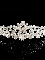 Meirui Women's Fashion Shining Jewelry Inlaid Rhinestones Imperial Crown Headband