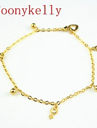 Toonykelly® 24CM Stainless Steel Women Gold Anklet Jewelry (1PC)