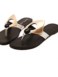 Women's Shoes  Flat Heel Flip Flops/Mary  Sandals Casual Black/Silver