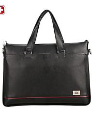 swissgear® bolso de mano de lona equipaje de cuero patchwork genuina
