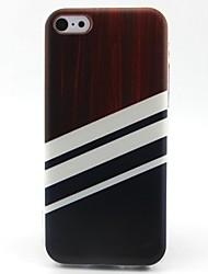 полоса рисунок ТПУ материал телефон случае для iPhone 5с