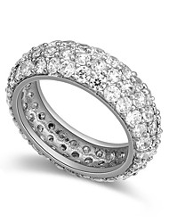 European Style Fashion Shiny Cubic Zirconia Band Ring