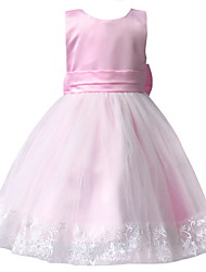 BHL Retail Kids Girl Evening Dresses With Bowknot Pageant Dress Ball Gown Princess Wedding Party Dress For SZ 3-7 Y