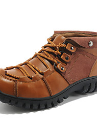 Men's Shoes Outdoor/Athletic/Casual Leather Boots Brown