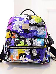 Women 's Canvas Backpack - Purple