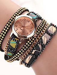 2015 nouvelle star en cuir robe de montre-bracelet de bracelet de style d'été montres haut montre à quartz d'or marque de luxe