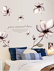 A removable wall bedroom sofa TV background wall decoration stickers purple lily
