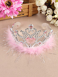 Bride Wedding Banquet Headwear Child Imperial Crown Rhinestone Hair Accessories Flower Girl Dresses Performance Headband