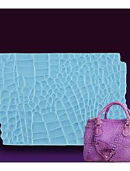 fondant de goma esteiras impressão pasta bolo bolsa de ferramentas de decoração silicone pele do jacaré impressão esteira silione