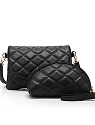 Women  PU Leather Quilted Casual Clutch Bag Shoulder Messenger Bag