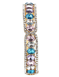 Sjeweler Lady's Crystal Colorful Stone Bracelet Bangle