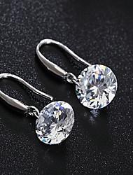 japon et d'argent boucles d'oreilles en cristal ronde de Corée du Sud de style