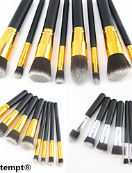 8PCS Golden&Silver Tube Black Handle Cosmetic Makeup Brush Set(2 Color to Choose)