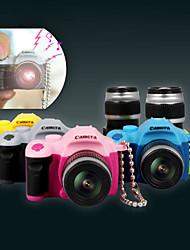 Mini SLR Vintage Camera Toy Keychain Novelty Keyring Charm LED Flash Torch (Random Color)
