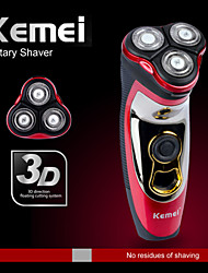 Kemei® Individual Rechargeable and Waterproof Shaver with 3 Rotating Blades