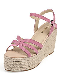 Women's Shoes Wedge Heel Wedges Sandals Casual Black/Pink