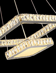 Modern Crystal LED Pendant Lights Ceiling Chandeliers Lighting Hanging Lamps Fixtures with 2 Rings 60CM 80CM