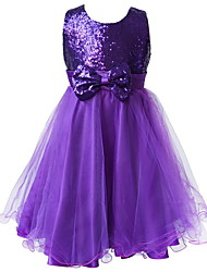 2015 BHL Retail Kids Girl Pageant Dress With Paillette Princess Wedding Party Dress For Girl SZ 2-8 Y Evening Dresses