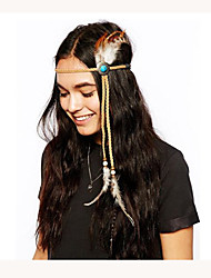 Fashion Weave Bohemian Headband,Native American,Braided Headband,Indian Headband,Hippie Headband,Feather Headband