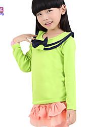 Waboats Winter Kids Girls Long Sleeve Ruffled Collar Solid Top