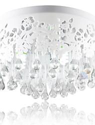 Crystal Flush Mount , Modern/Contemporary Living Room/Bedroom/Dining Room Metal