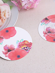 Rose Paper Coasters (set of 12)