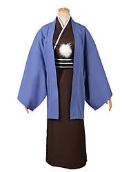 Inspiriert von Kuroko kein Basket Kuroko Tetsuya Video Spiel Cosplay Kostüme Cosplay Kostüme einfarbig Blau Lange Ärmel Kimono Jacke