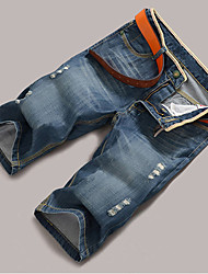 Men's Casual Jeans (Cotton Blend)
