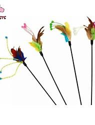 Cat Pet Toys Teaser / Feather Toy Stick Random Color Textile