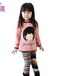 Waboats Little Girls' Fall Print Long Sleeve 3-6 Years Fashion-t-shirts