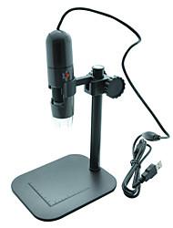 s10 microscope 1.3MP 1000x numérique portable usb w / 8-LED Light titulaire / monter - gris foncé