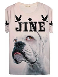 Men's High Quality Generous Summer Breathable 3D Style T-shirt——Pink Dog
