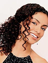 en stock brésilienne vierge de cheveux bouclés humaine 10-30inch front de dentelle des perruques 130 densité partie u perruque pour les