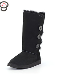 MO Winter Boots Classic Snow Boots Keep Warm Slip-On Women's Boots Twinface Sheepskin Suede lined Boots