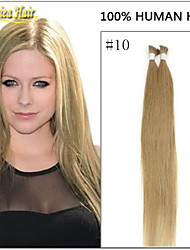 Hot Selling Prebonded Hair 100g Remy Hair Straight I Tip Hair Extension Natural Color Keratin 100S/Pack