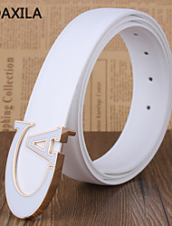 Unisex Calfskin Waist Belt , Party/Work/Casual business casual Trend fashion plate buckle
