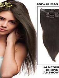 virgin remy haar clip in human hair extensions steil haar onverwerkte Peruaanse clip in op voorraad