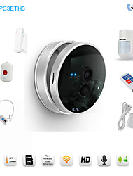 Snov HD Wifi Night Vision IP Baby Monitor Cube IP Camera Business Present with 5pcs Wireless Alarm Sensors, CMS & APP