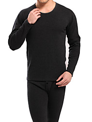 Men's cotton thermal underwear long johns o-neck underwear velvet suit
