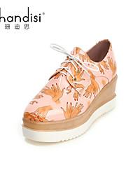 Women's Shoes Wedge Heel Wedges/Heels Pumps/Heels Casual Black/Pink/White