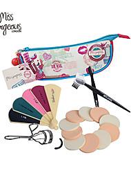 cosmétique de maquillage mis en sac fond de teint poudre cils sourcils tondeuse fichier peigne clou en acier feuilletée