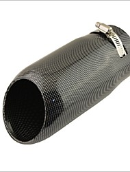 "2.6"" Inlet Slant Cut Carbon Fiber Pattern Car Exhaust Muffler Tip for Audi Q5"